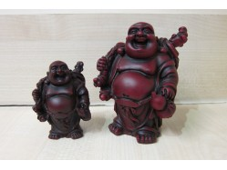 Shoushan Buddha Figure Holding a Gourd and Sack