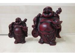 Shoushan Buddha Figure Holding an Ingot, Coin and Sack