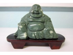 Hand Carved Jude Buddha on a Wooden Stand