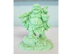 Lucky Glowing Green Chinese Buddha