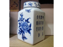 Chinese Floral Tea Caddy Jar
