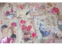 Chinese New Year Greeting Card Decoupage Layering