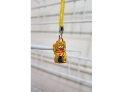 Lucky Cat Bag Charm Gold