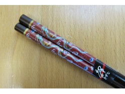 Swirly Red Dragon chopsticks