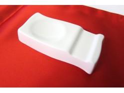 Set of Four White Porcelain Ceramic Chopstick Spoon Rest Holder