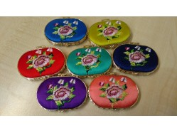 Satin Compact Mirror - Oval