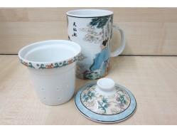 Tian Xian Pei Mug with Tea Strainer and Lid