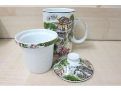 Palaces & Pagodas Mug with Tea Strainer and Lid