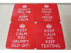Keep Calm Red Coaster