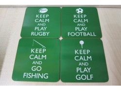 Keep Calm Sports Coaster