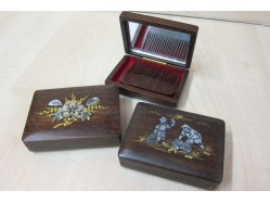 Chinese Pocket Mirror and Wooden Comb