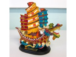 Chinese Dragon Boat Figurine