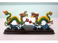 Pair of Imitation Cochin Chinese Dragons
