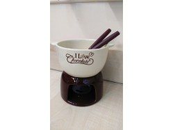 Chocolate Fondue Set - Brown