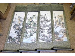Set of Four Scrolls of the Seasons