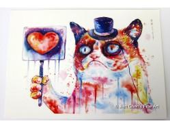 Grumpy Cat's Love Postcard Print