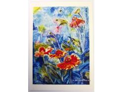 Cosmic Flowers Postcard Print