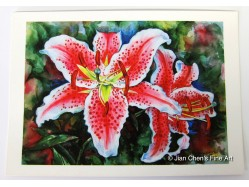Lilies Postcard Print