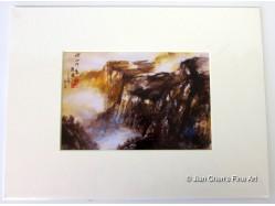 Landscape Scene Mounted Postcard Print