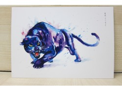 Black Panther Postcard Print