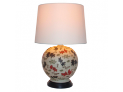 Chinese Porcelain Round Goldfish Table Lamp