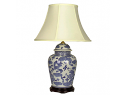 Chinese Porcelain General Jar Blue and White Dragon Table Lamp