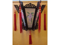 Large Chinese Palace Wall Lantern - Flowers