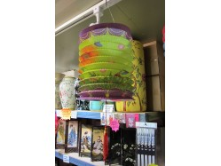 Paper Lantern - Green and Purple
