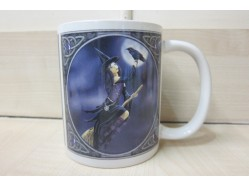 Lisa Parker Purple Witch with Raven Mug