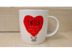 Bone China Welsh Cwtch Mug