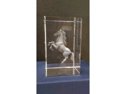 Laser Etched Crystal Block - Horse