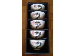 Black Dragon Rice Bowl Set