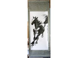 Chinese Galloping Horse Scroll