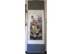 Oriental Chinese Dragon Scroll