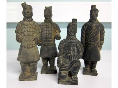 Set of Four Replica Terracotta Army Figures