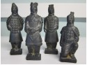 Set of Four Replica Terracotta Army Figures (Darker finish)