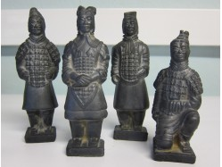 Set of Four Replica Terracotta Army Figures (Darker finish)