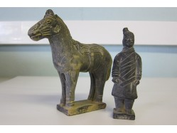 Replica Terracotta Army Cavalryman and Horse