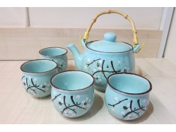 Chinese Duck Egg Blue Tea Set
