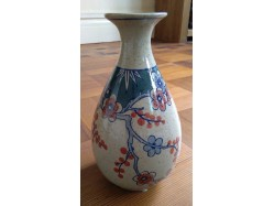 """Oriental Chinese Porcelain Bud Vase Weeping Plum Blossom 9"""" Tall"""