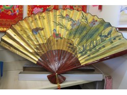 Mandarin Ducks Wall Fan