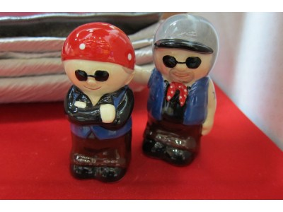 Biker Couple Cruet Set