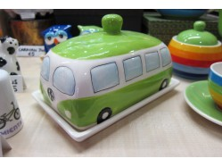 Green Campervan Butter Dish
