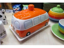 Orange Campervan Butter Dish