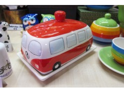 Red Campervan Butter Dish