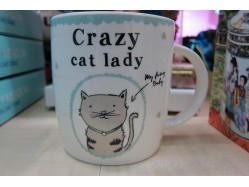 Bone China Crazy Cat Lady Mug