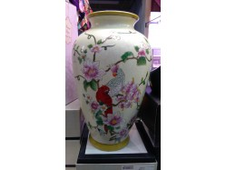 Crested Parrot Vase