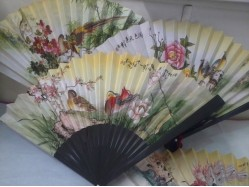 Birds & Blossom Hand Fan