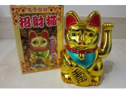 Medium Gold Lucky Cat