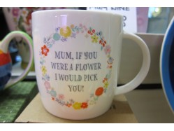 Bone China Mum Flower Mug